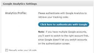 Ověření účtu Google Analytics