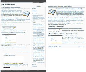 Readability Redux v praxi. Vlevo původní a vpravo upravená stránka.