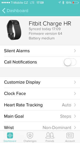 Fitbit mobilní aplikace