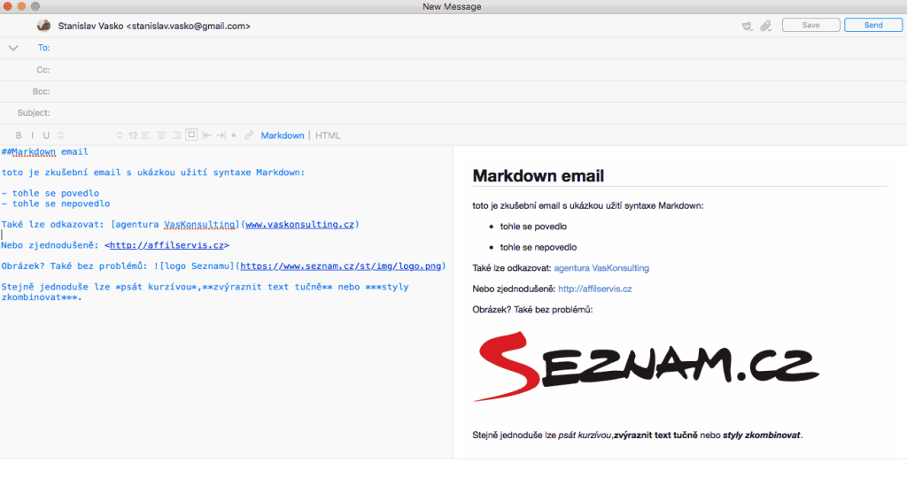 markdown-email